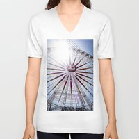 carnival V-neck T-shirts featuring CARNIVAL by Richard Torres Photo