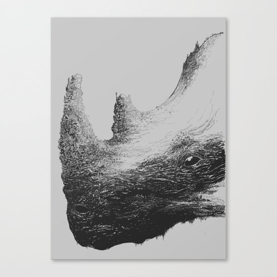 Rhinoceros Valley Canvas Print
