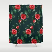 floral pattern Shower Curtains featuring Floral Pattern by Heart of Hearts Designs
