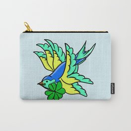 Swallow With Lucky Four Leaf Clover Carry-All Pouch