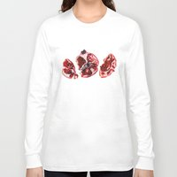 pomegranate Long Sleeve T-shirts featuring Pomegranate  by Sam Luotonen