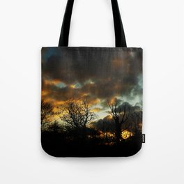 Moody Sunset Tote Bag