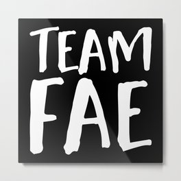 Team Fae - Inverted Metal Print