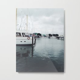 Boats and Water Metal Print