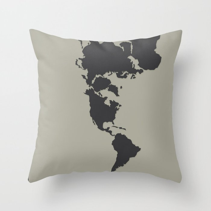 Dymaxion Map - Greys Throw Pillow by brennanletkeman | Society6 on