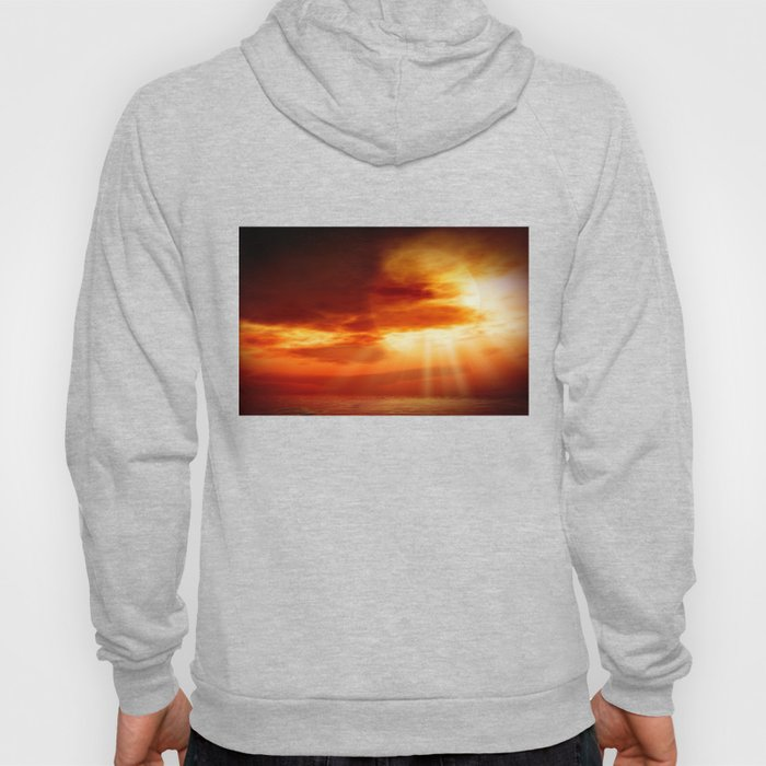 sunrise in the sea Hoody