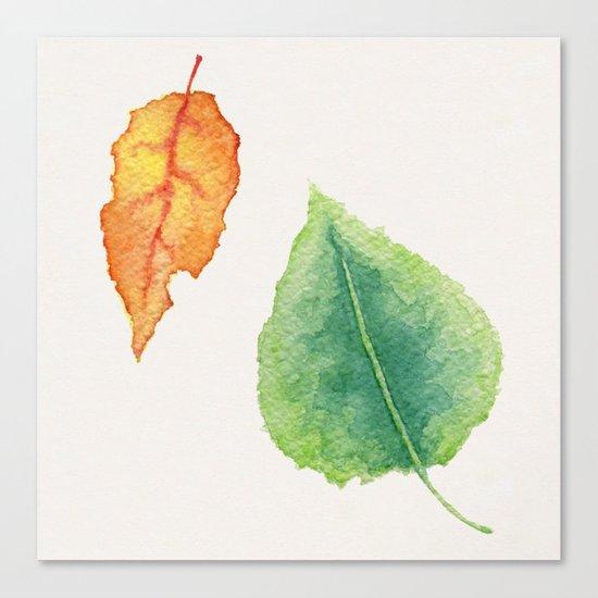 foglie Canvas Print