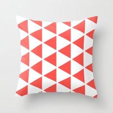 Sleyer Pink on White Pattern Throw Pillow