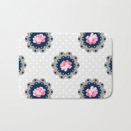 Shabby Chic Rose Pattern Bath Mat