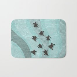 Loggerhead sea turtle hatchlings Bath Mat