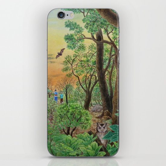 A Day of Forest (9). (the forest at night) iPhone & iPod Skin
