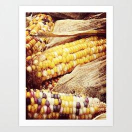 Colorful Corn I Art Print