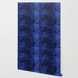 Royal blue navy velvet Wallpaper