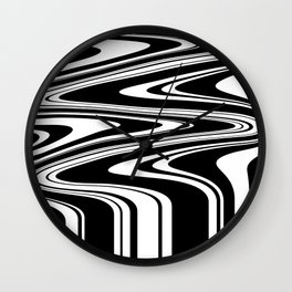 Stripes, distorted 6 Wall Clock