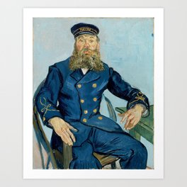 Vincent van Gogh - Portrait of Joseph Roulin Art Print