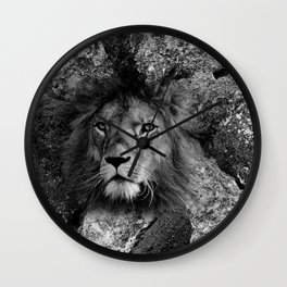 The Fearless Lion Wall Clock
