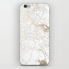 Amsterdam White on Gold Street Map II iPhone Skin