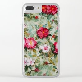Madagascar Periwinkles Clear iPhone Case