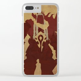 Saurfang Poster Clear iPhone Case