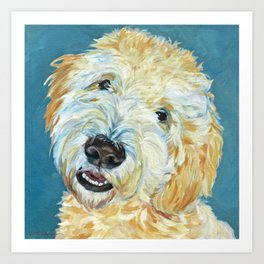 Stanley the Goldendoodle Dog Portrait Art Print
