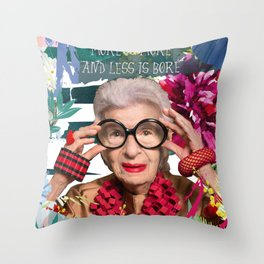 Iris Apfel Throw Pillow