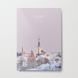 Tallinn, Estonia Travel Artwork Metal Print