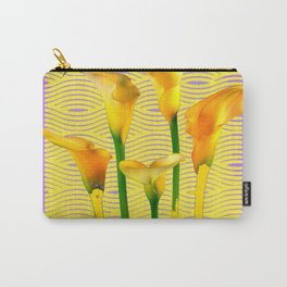 Gold-Lilac Color Calla Lilies Pattern Carry-All Pouch