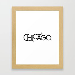 Chicago - Where the Wind Blows - 57 Montgomery Ave Framed Art Print