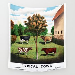 Typical Cows Wall Tapestry