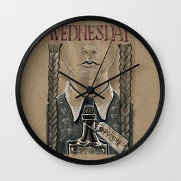 Wednesday Addams (DRAWLLOWEEN 2/31) Wall Clock