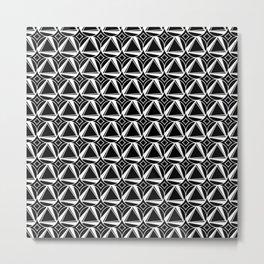 Geometric Black and White Art Deco Metal Print