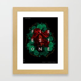 Firestone - Kygo ft. Conrad Sewell (Song Poster) Framed Art Print