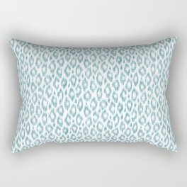 "Turquoise leopard pattern ""Leopold"" Rectangular Pillow"
