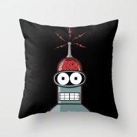 bender Throw Pillows featuring Bender by Betmac