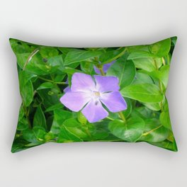 Violet Herbaceous Periwinkle Rectangular Pillow