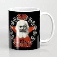 marx Mugs featuring Big Bushy Beard by PsychoBudgie