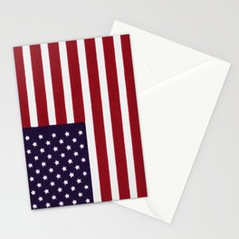 """Stars & Stripes flag, painterly """"old glory"""" Stationery Cards"""
