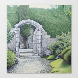 Garden Path Gate Canvas Print