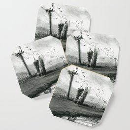 Ink and Carbon Pencil Coaster