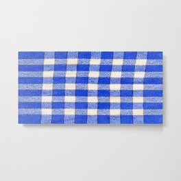 Gingham / vichy Pattern -strips,fashion,squares,french,vichy, gingham,bistrot,textiles,indie Metal Print