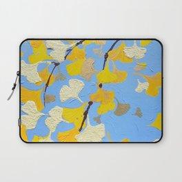 Yellow ginkgo biloba leaves Laptop Sleeve