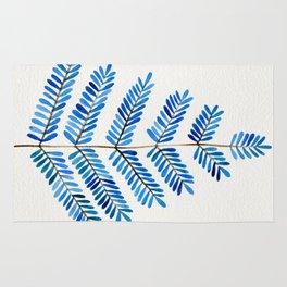 Blue Leaflets Rug