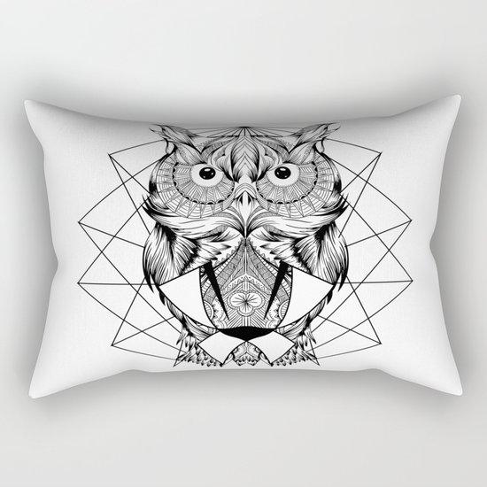 Zentangle Owl Rectangular Pillow