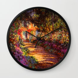 Garden Path at Giverny - Claude Monet 1902 Wall Clock