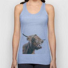 Majestic Highland cow portrait Unisex Tank Top