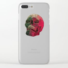 Skull Reflet Clear iPhone Case