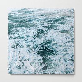 blue ocean tides Metal Print