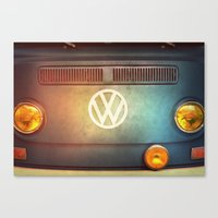 volkswagen Canvas Prints featuring Volkswagen T2a by Marvelis