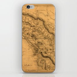 Map Of Nicaragua 1851 iPhone Skin