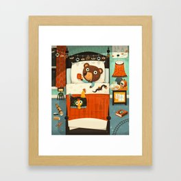 Bedtime for dragon hunters Framed Art Print